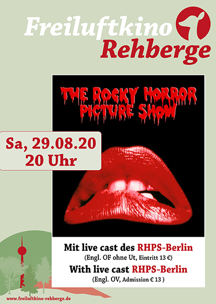 ROCKY HORROR PICTURE SHOW am 29. August 2020 im Freiluftkino Rehberge
