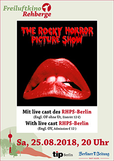 ROCKY HORROR PICTURE SHOW am 25. August 2018 im Freiluftkino Rehberge